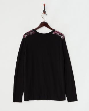 パープル系×ブラック  MIRTILLO Knitted Jacket見る