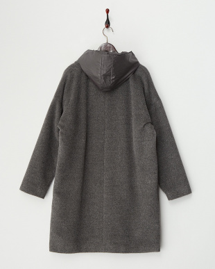 LIGHT GREY NOVA Short Coat・アルパカ見る