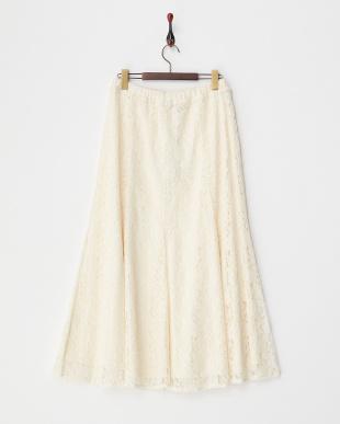 ホワイト CAMMEO レーススカート見る