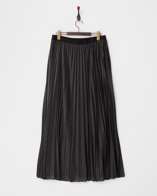 メタリックグレー OCCHIARE ジャージープリーツスカート見る