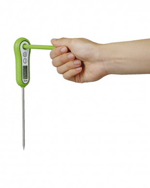 グリーン 料理用スティック温度計見る