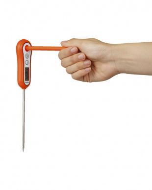 オレンジ 料理用スティック温度計見る