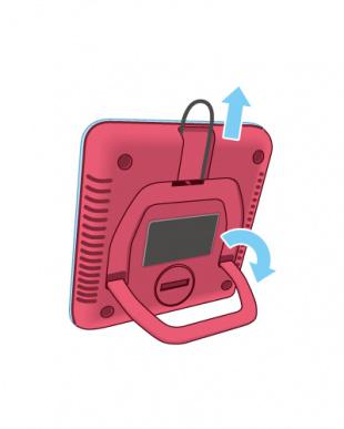 Nピンク 3WAYデジタル温湿度計見る