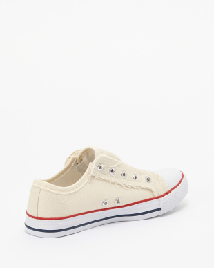White  Canvas Low Cut Shoes見る