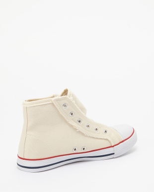 White  Canvas High Cut Shoes見る