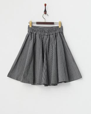 ネイビー系 ヒッコリーフレアスカート見る