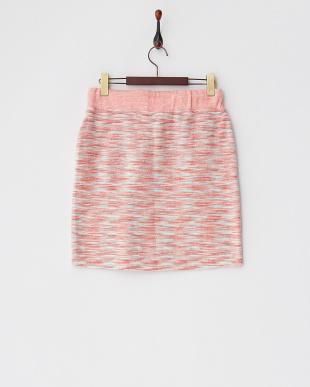 ピンク ミックスパイルスカート見る