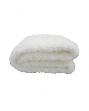 アイボリー [シングル]オーストラリア産ウール使用 ウール敷き毛布見る