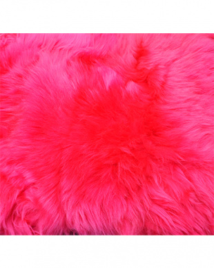 ディープピンク  ムートン長毛ロングシートクッション約35×105cm見る