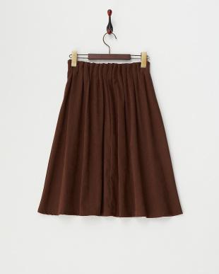 ブラウン  タックウエスト スカート見る