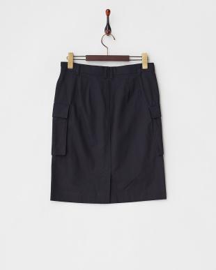 ネイビー  ダブルポケット ミリタリースカート見る