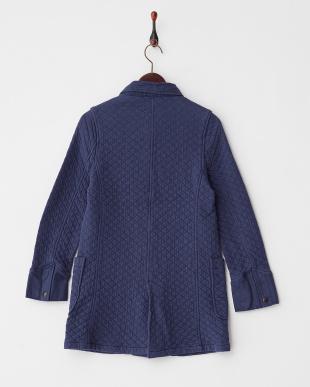ブルー  キルティングジャケットコート見る