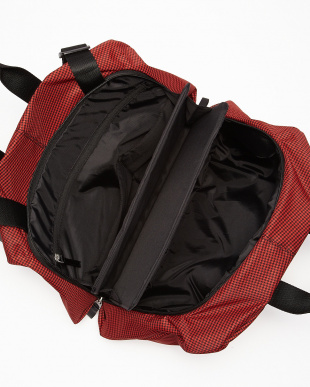 Firebrick Red/ Ink black Bowler Bag 千鳥格子見る
