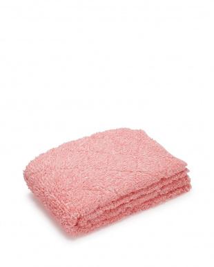 ピンク  ロングパイルあったか敷きパッド ダブル見る