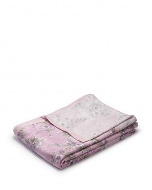 ピンク  さらふわ綿毛布 シングル見る