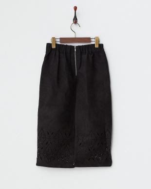 ブラック  スエード風スカート見る