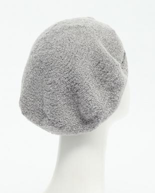 杢GRY  刺繍ニットベレー帽見る