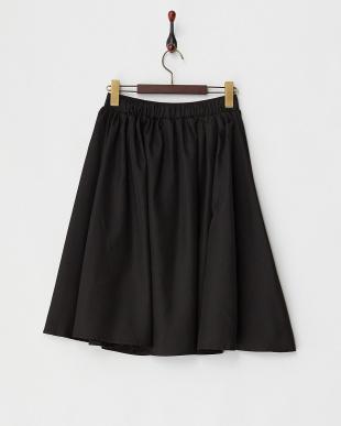 ブラック ツイルフレアスカート見る