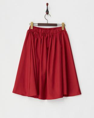 ボルドー ツイルフレアスカート見る