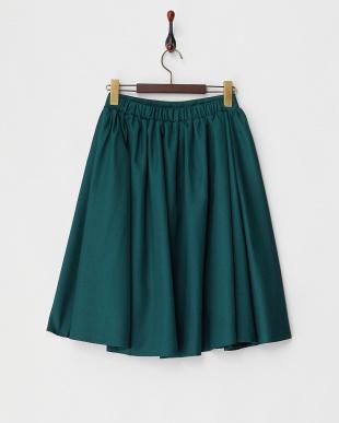 グリーン ツイルフレアスカート見る
