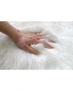 ホワイト フェイクムートン ミンクタッチファー 60×170cm見る