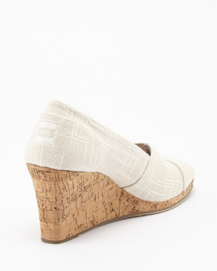 Natural Linen with Cork  CLASSIC WEDGE見る