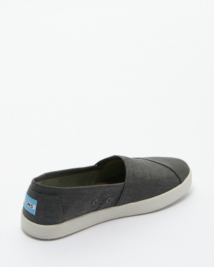 Charcoal  Brushed Nylon AVALON SLIP-ON見る
