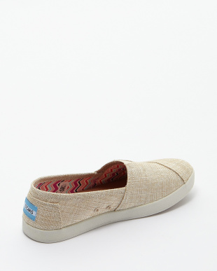 Natural Metallic Linen AVALON SLIP-ON見る