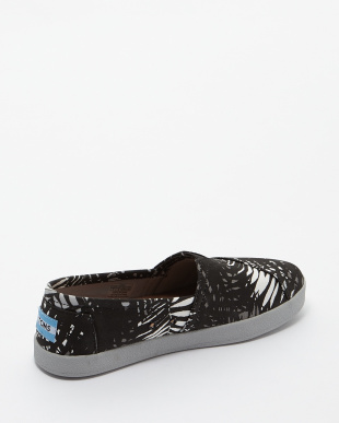 Black  Print Palms AVALON SNEAKERS SLIP-ON見る