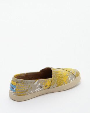 Gold  Print Palms AVALON SNEAKERS SLIP-ON見る