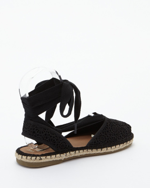 Black  Crochet BELLA ESPADRILLES見る