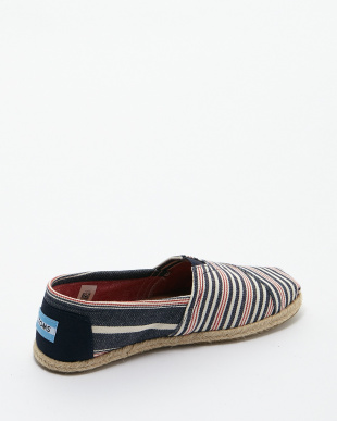 Navy Red Woven Stripe Rope Sole CLASSICS見る
