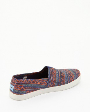 Blue Orange Zig Zag AVALON SLIP-ONS見る