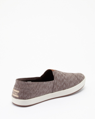BROWN  TEXTILE TEXTURED AVALON SLIP-ONS見る