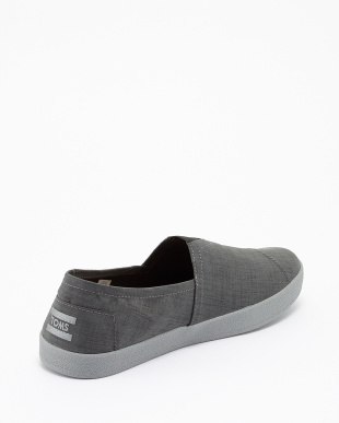 CHARCOAL  BRUSHED NYLON AVALON SLIP-ONS見る