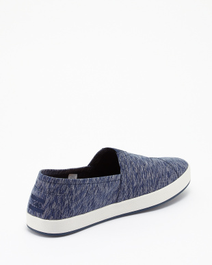 NAVY  TEXTILE TEXTURED AVALON SLIP-ONS見る