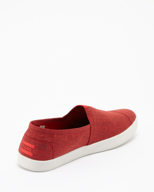 RED  BRUSHED NYLON AVALON SLIP-ONS見る