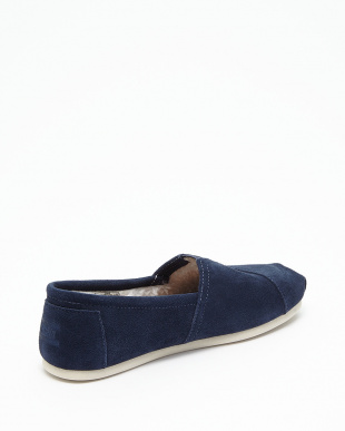 Navy Suede Shearling AVALON SLIP-ONS JAPAN SMU見る