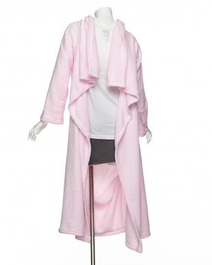 ピンク  クッションになる着る毛布見る