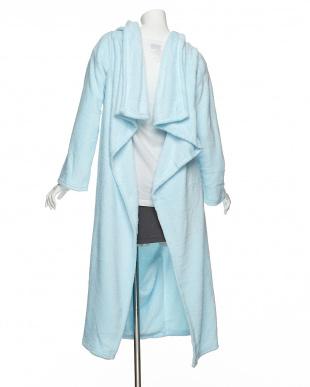 ブルー  クッションになる着る毛布見る