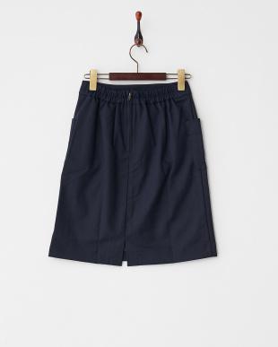 ネイビー  ポケ付Iラインスカート見る