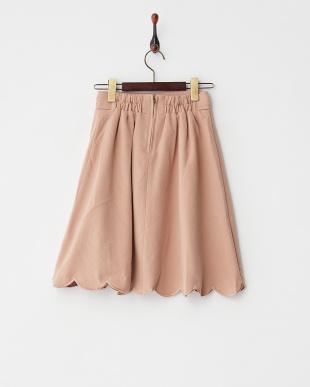 ピンク  裾スカラップスカート見る