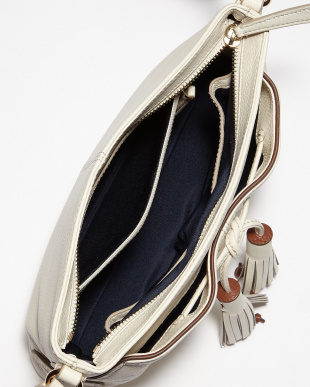 IVORY/WOODBURY REILEY TASSLE CROSSBODY見る