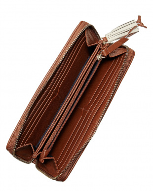 IVORY/WOODBURY  REILEY TASSLE CONTINENTAL ZIP WALLET見る