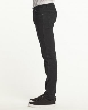 ブラック フラワージャカードジーンズ(5P)見る