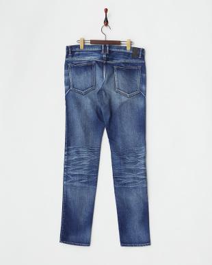 ブルー インディゴ染めジーンズ(5P)見る