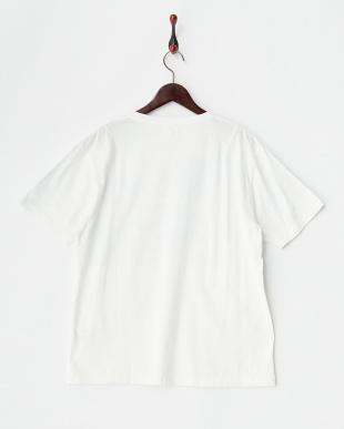 ホワイト  グラデーションプリント半袖カットソー見る