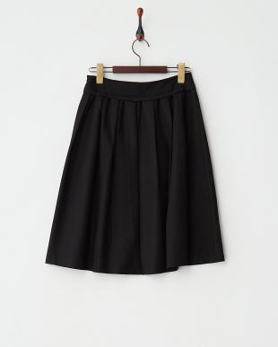 BLACK  ウエストヨークギャザースカート見る