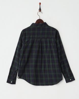 GREEN ブラックウォッチ カシュクールシャツ見る