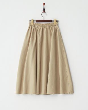 BEIGE  ミディ丈タフタスカート見る